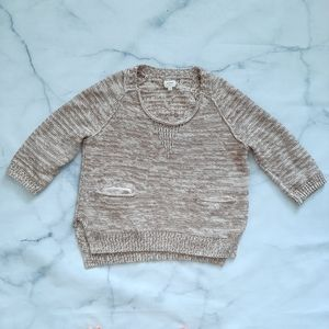 Aritzia Wilfred Knit Sweater Front Pockets
